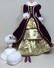 1996 Happy Holidays Barbie: Victorian Style Dress & Accessories. New, De-Boxed.