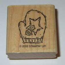 Mitten Winter Rubber Stamp Star Buttons Stampin' Up! Retired EUC Gloves Snow