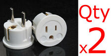 US EU Plug Adapter 2PK- European Schuko Plug USA to Europe Asia American to EU