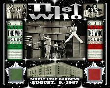 THE WHO 8x10 PHOTO AUG 9, 1967 W/ MAPLE LEAF GARDENS RED-GREEN SEAT