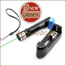 G850-C 5mw 532nm Fixed Focus Green Laser Pointer Visible Beam Battery & Charger