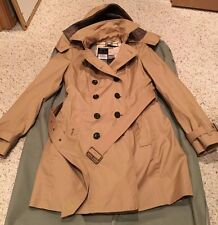 BURBERRY BRIT Women REYMOORE Trench Coat w/ Detachable Hood & Liner- SIZE 6- NWT