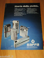 SAFFA ACCENDINO LIGHTER=ANNO 1974=PUBBLICITA=ADVERTISING=