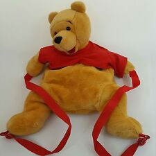 Official Disneyland Paris plush soft toy Winnie The Pooh rucksack Backpack Bag