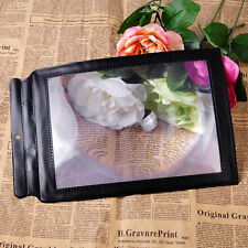 3X Big A4 Full Page Magnifier Sheet Magnifying Glass Reading Aid Lens books maps