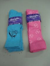 NWT Women's Wrangler Spun Rayon Knee Socks Shoe Size 6-9 Multi 4 Pair #161D