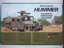 10/1984 PUB LTV AEROSPACE DEFENSE M1036 HUMMER TOW MISSILE AM GENERAL GERMAN AD