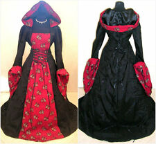 MEDIEVAL DRESS 16-18-20 L-XL-2XL GOTH WITCH COSTUME LARP VAMPIRE WICCA VICTORIAN