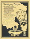SMUDGING PRAYER POSTER  A4 SIZE Wicca Pagan Witch  Goth BOOK OF SHADOWS