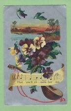 Vintage Postcard That you'll remember me. Posted 1910