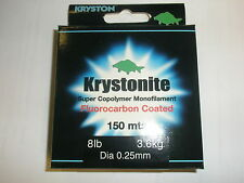 Kryston Flourocarbon Coated Monofilament 8lb 0.25mm 150m Fishing tackle