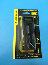 Nitecore UM10 18650 Intelligent LCD Rechargeable Li-ion USB Battery Charger
