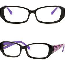 Vollrand Kunststoff Damenbrille Fassung Brillengestell Federbügel Lila Schwarz