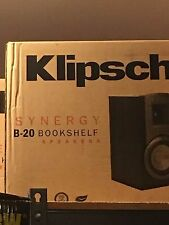 NEW Klipsch B-20 B20 b20 5.25 INCH Bookshelf Speakers Pair BLACK