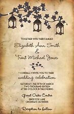 Wedding Invitations Lanterns Tree  Rustic Country 50 Invitations & RSVP Cards