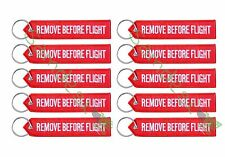 QTY=10 New RED/WHITE REMOVE BEFORE FLIGHT AVIATION TAGS -US Seller-