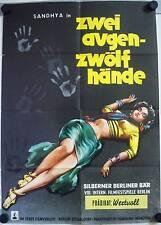 Zwei Augen Zwölf Hände Filmposter A1 Bollywood Do Ankhen Barah Haath Sandhya