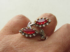 925 Sterling Silver Turkish Authentic Hurrem Sultan Ruby Ring Sz 9 Adjustable