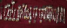 Vintage fancy Silver Co. spoon/fork/knife silverware set w/36 pieces
