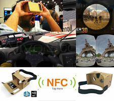 3d de realidad virtual Vr Google de cartón + Full Nfc + magnetcs Android, Iphone Ios