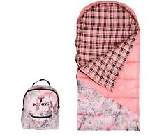 Kings Camo Youth Jr Sleeping Bag Pink Shadow Hunter Series w/ Backpack