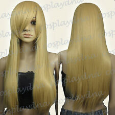 28 inch Hi_Temp Series Beige Blonde Long Cosplay DNA Wigs 76086