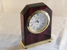 A Rosewood and Brass Mantle Clock, stunning clock !!!.