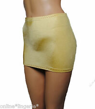 SIZE 8-10 GOLD SILKY SATIN LYCRA TUBE STYLE MICRO BOOTY MINI SKIRT PARTY SM S61