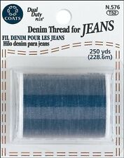 New!! Coats & Clark Extra Strong Denim Thread For Jeans 250 Yards - Denim Blue