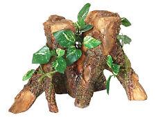 Trunk with Silk Cane Plant Reptile Terrarium Vivarium Ornament Decoration