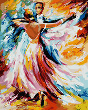 Paint by Number kit with Frame Dancing Oil Painting DIY YZ7222