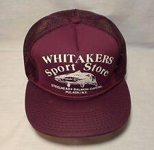 Vtg WHITAKERS SPORT STORE Snapback Baseball Hat Cap Mesh Hipster Trucker Painter