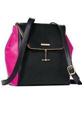 Brand New Juicy Couture Hot Pink & Black Gold Logo Backpack , Handbags .