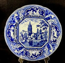 Fine J W RIDGWAY OPAQUE CHINA PLATE Christ Church Oxford C1830