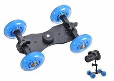 UK MAGAZZINO! cameraplus-Flex Skater Dolly (Blu) per DSLR / Point & Shoot Fotocamere
