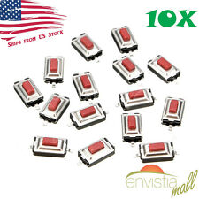 10Pcs 6x3x2.5mm Momentary Tactile Tact Push Button Switch 2 Pin SMT SMD Red US