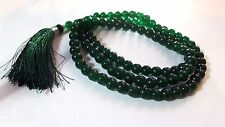 Mala Beads Crystal JADE GREEN  Mala Japa 108 Prayer Hindu Buddhist Chanting