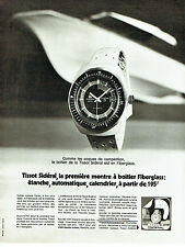 PUBLICITE ADVERTISING 096  1971  Tissot  la montre  Sidéral Fiberglass avion