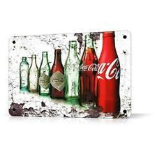 METAL TIN SIGN COCA COLA Retro Decay Effect Decor Home Bar Pub Garage Wall