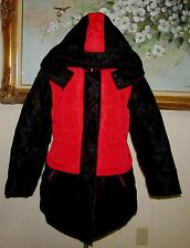 KELIBIRD RED/BLK POLYESTER ZIP/SNAP FT COAT SZ XXL FITS LIKE MED BODYPUMP COLORS