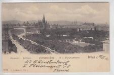AK Wien I, Parlament, Rathaus, Volksgarten, Burgtheater 1901