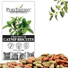 PET CAT Treats Catnip Biscuits Snack PureTrition Premium 100% Botanical 100g