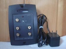 RADIO SHACK 15-2506 BI-DIRECTIONAL CABLE/TV AMPLIFIER WITH 12VDC POWER SUPPLY~