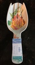 Coastal Collection Tropical Fish MELAMINE Salad Server Set NWT