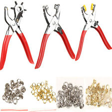 128Pcs Set Kit Leather Hole Punch Repair Tool with Eyelets Grommets and Pliers