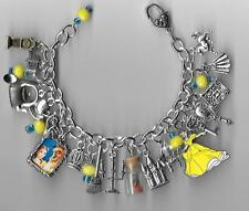 BEAUTY AND THE BEAST Charm Bracelet Altered Art     Gift Bag   Belle  Handmade