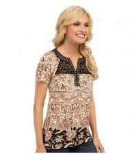 Lucky Brand Kyra Studded Yoke Top-Medium ($59.50 Retail!)