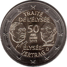 2 EURO Germania 2013 - 2 euro 50° Ann. Trattato dell'Eliseo, zecca casuale