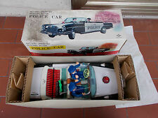 MACCHINA POLICE CAR MERCEDES BENZ 250S JAPAN (DAIYA) BATTERIA ANNI 60 NEW IN BOX