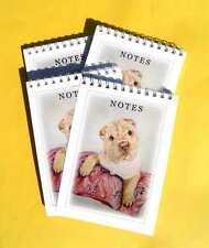 Shar Pei Puppy Colour Pack of 4, A6 Small  Dog Note Pads, Jotters Gift Set